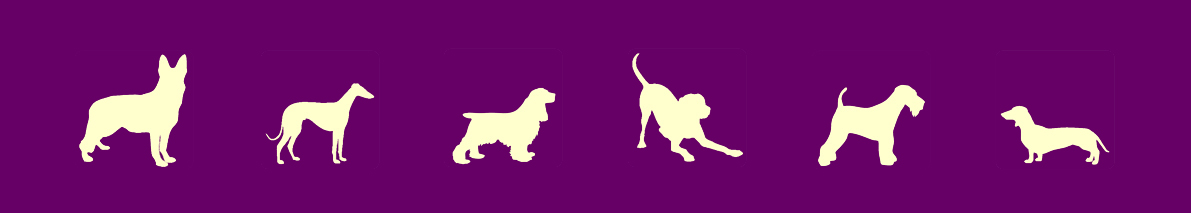Silhouettes of dogs - Rewarding Dogs